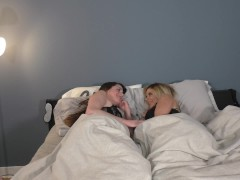Lesbian BFFs Wake Up and Fuck