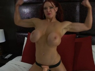 Athletic Redhead Dominates Her Coach With Strap-On