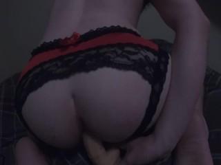 Dildo play in Panties