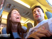 Risky Blowjob in a Plane to Berlin - Mile High Club - Amateur MySweetApple