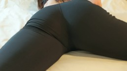 Sexy Delaney Augustine Humping the bed in her Sexy Yoga Pants. Part 2