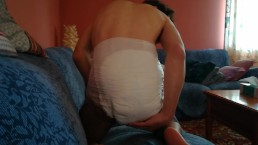 Little Dario poop in his diaper