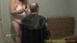 2016-09-02 s1A BBW fuckmeat gives Master a haircut BDSM Relationship Fun