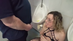 Blonde in Black Trashed Stockings Peing Pissed On. Essex Girl Lisa & John
