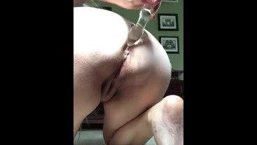 MILF Fingers Her Ass and Inserts Dildo