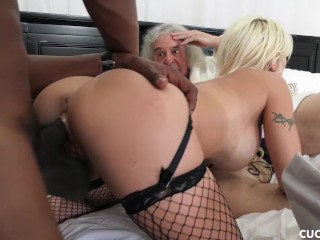Big Tit Blonde Wants A Deep Pussy Drilling By A BBC And Cucks Her Husband
