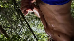 POV Sweaty, fit amateur masturbating to quick orgasm in public outdoors