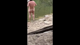 Nude Beach & Hiking Blowjob and Cumshot Part 2