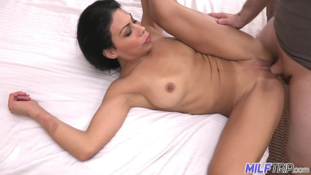 Sexy Latina mother gargles my cum before swallowing it