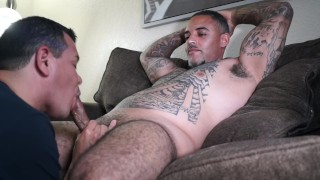 Sucking sexy Blatino daddy
