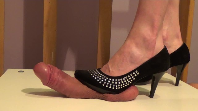High heel sex play High heels cock trample