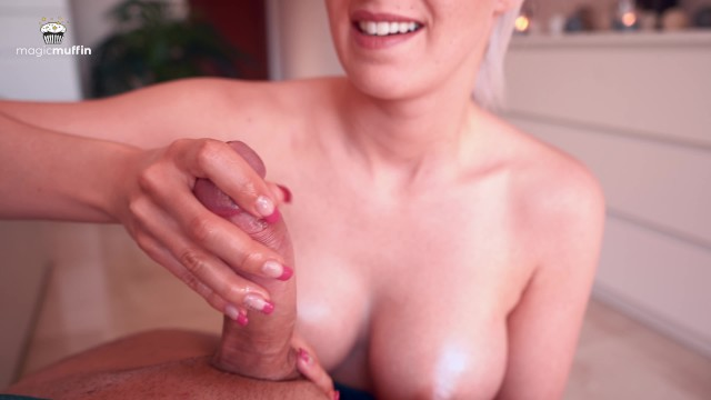 To thumbs Intense magic point handjob by hot girlfriend - themagicmuffin