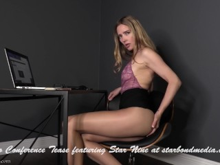 Video Conference Tease - Femdom POV Office Domination TRAILER