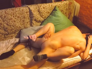 Caresses young passionate couple