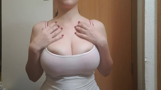 Huge Natural Boobs Busting Out of My Bra