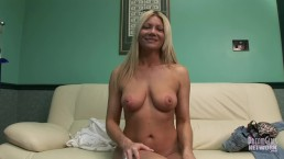 Hot Blonde MILF Gets Naked On The Casting Couch