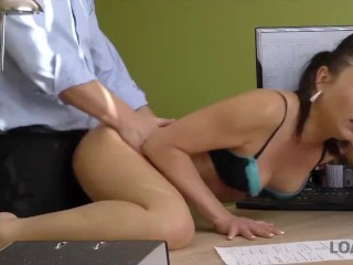 Video Married Sex Loan4k. Fraces Likes New Loan Agent So Agrees To Fuck For Money,