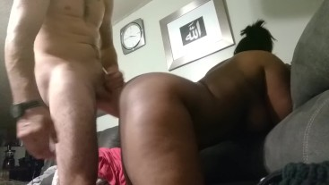 Neighbor's gf fakes sick and gets a huge cumshot on her phat ass...
