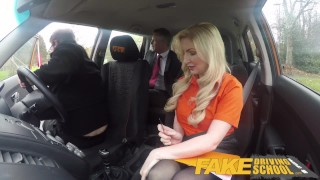 Driving bombshell georgie lyall fake school spunks blonde guy over mature pussy doggystyle