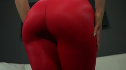 Ass Worship in Red Leggings