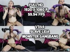 v344 Slave Leia Monster Gangbang