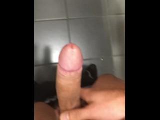 Public toilet precum jerk off
