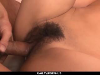 Yuika Akimoto ends massive threesome with creampie - More at 69avs com