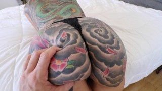 Thick Tattooed Blonde, First Time Fucking on Camera!