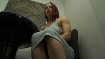 Muscular Giantess Eats Tiny Man in Her Kitchen
