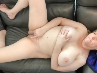 Naughty Wife Masturbates and Cums in Front of Hubby and Friend
