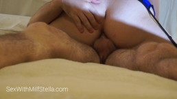 MILF Stella's Anal Orgasm With Huge Slow Mo Cum Shot - Dick In Ass Fuck