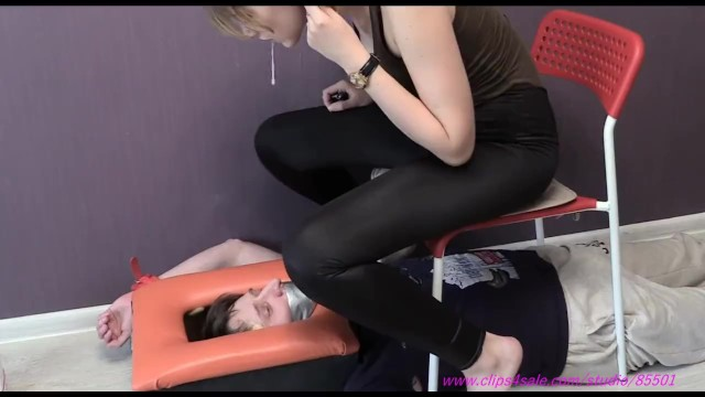 Bondage and humiliation picture - Cruel girls foot humiliate slave spitting femdom foot worship foot licking