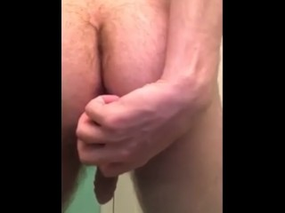 Anal training with a big plug