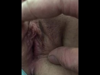 Clamped Clit and Labia gives a pulsating orgasm at 6:36