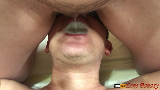 Girl in mouth pee Pissing in mans mouth, lick hairy pussy after pee