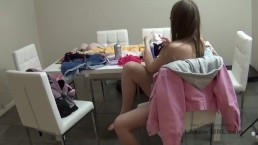 Hot New Girl sucks cock and fucks at modeling audition