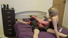 Femdom cock torture and smothering