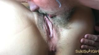 Close up intense pussy licking orgasm & Bondage ANAL @andregotbars