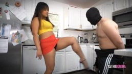 Sexy asian girl teaches how to ballbust your boyfriend