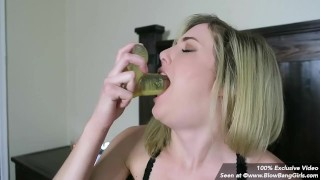 What The Fuck ... Huge Toy Down Her Throat