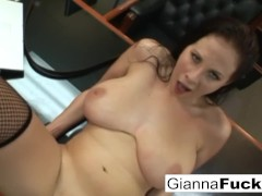 POV interracial fuck with busty brunette Gianna Michaels