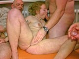 Amateur blonde gets used by older guys