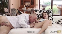 Daddy4K. Gentle Step dad of guy is better in bed with girl than her BF