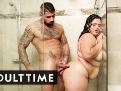 Adult Time Plumper Karla Lane Steamy Shower Sex With Lover