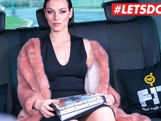 LETSDOEIT - Russian Babe Sarah Cums Hard In a Czech Taxi