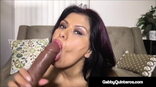 Spicy Mexican Milf Gabby Quinteros Dildo Fucks Herself!