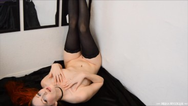 Stiletto Nails and Bare Skin - topless fingernail fetish scratching tapping