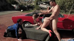Skylar Snow Is A Big Tit Nympho Who Cucks Her Husband With The Car Polisher