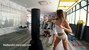 WORKOUT TURNS TO A HARD FUCK IN THE GYM'S SHOWER - AMATEUR . FULL VERSION