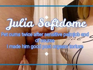 Slippery Tits Julia I Jerk Off My Boyfriend And He Cums Two Times In
